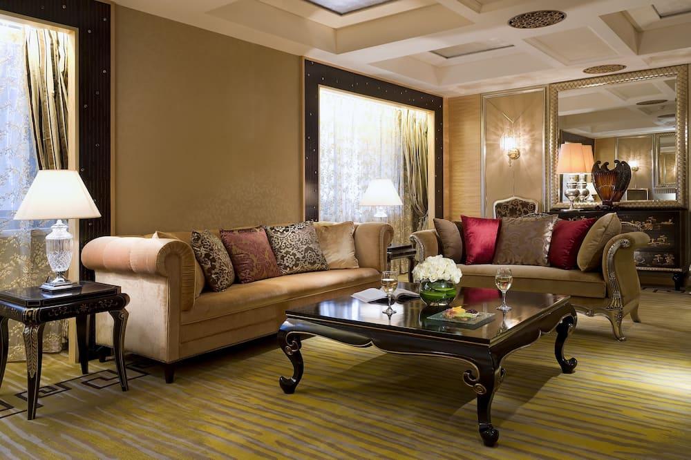 Junior-suite - 1 kingsize-seng - udsigt til golfbane - Værelse