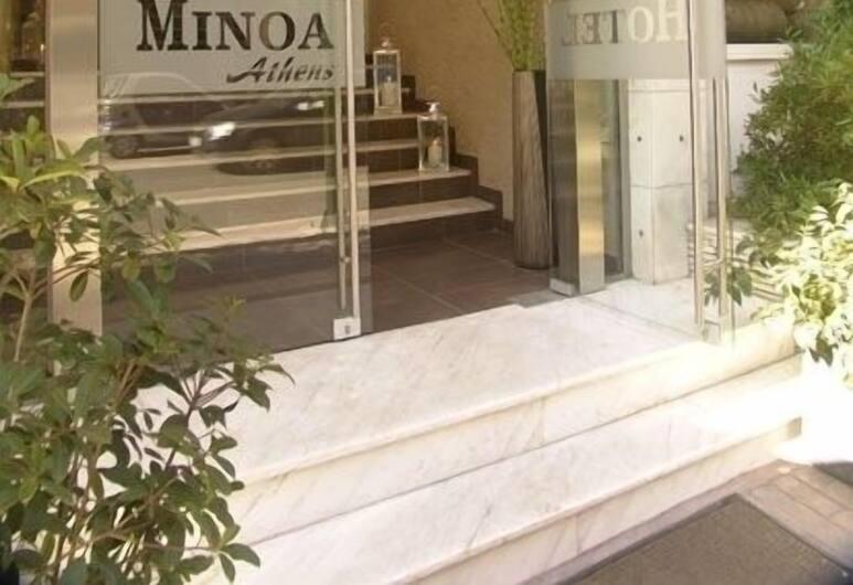 Minoa Hotel, Athén, Hotel bejárata