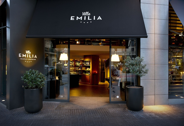 Hotel Villa Emilia, Barcelona, Entrada do hotel