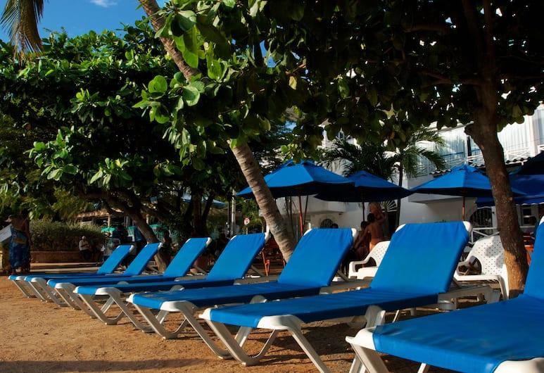 La Ballena Azul Hotel, Santa Marta, Pantai