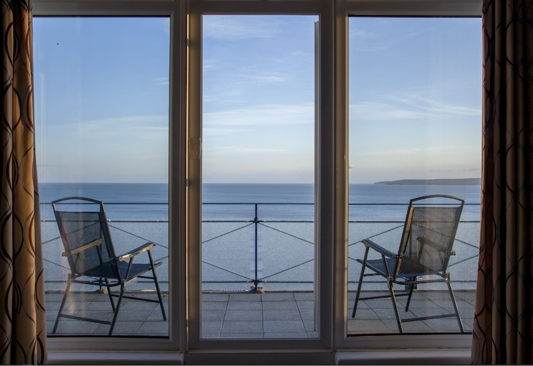 Marsham Court Hotel, Bournemouth, Double Room, Balcony, Sea View (Not Dog Friendly), Balcony