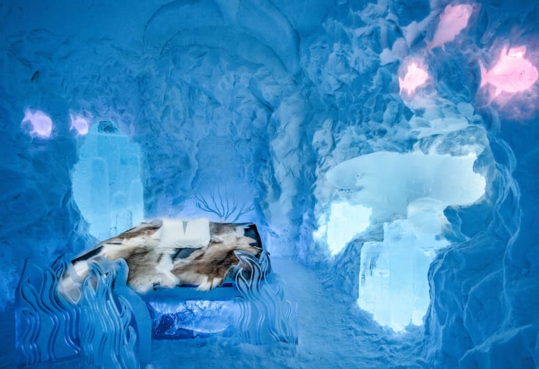 Icehotel, Jukkasjarvi, Artsuite, ICEHOTEL/Cold accommodation, Guest Room