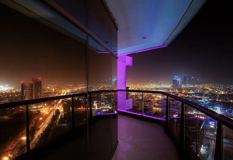 Majestic City Retreat Hotel, Dubai, Skyline Economy Room, Balkongutsikt