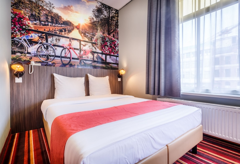Hotel Mozart, Amsterdam, Chambre Double Standard, vue canal, Chambre