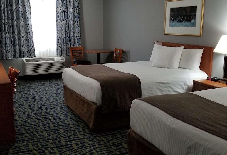 SureStay Plus Hotel by Best Western Lethbridge, Lethbridge, Standardzimmer, 2Queen-Betten, Nichtraucher, Kühlschrank und Mikrowelle (Refrigerator & Microwave), Zimmer
