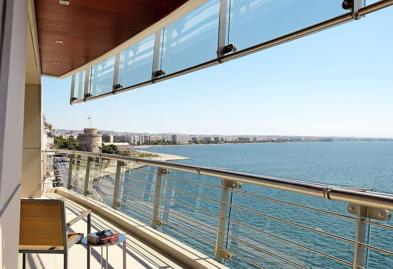 Daios Luxury Living, Θεσσαλονίκη, Senior Σουίτα, Θέα στη Θάλασσα, Αίθριο/βεράντα