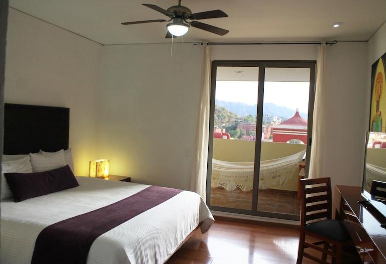 Hotel México Plaza Guanajuato, Guanajuato, Junior tuba, 1 ülilai voodi, Rõdu