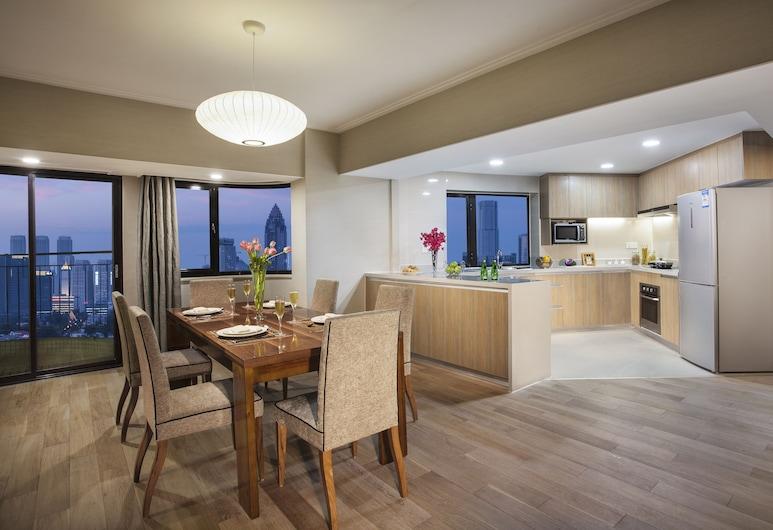 Somerset Olympic Tower Tianjin, Tiandzinas, Prezidentinės klasės apartamentai, 3 miegamieji, virtuvė, vaizdas į miestą, Kambarys