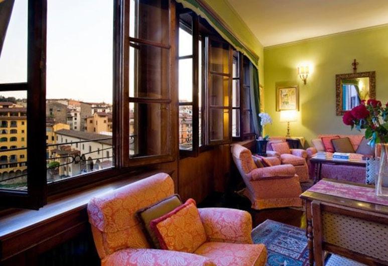 Hotel Hermitage, Florence, Lobby Sitting Area