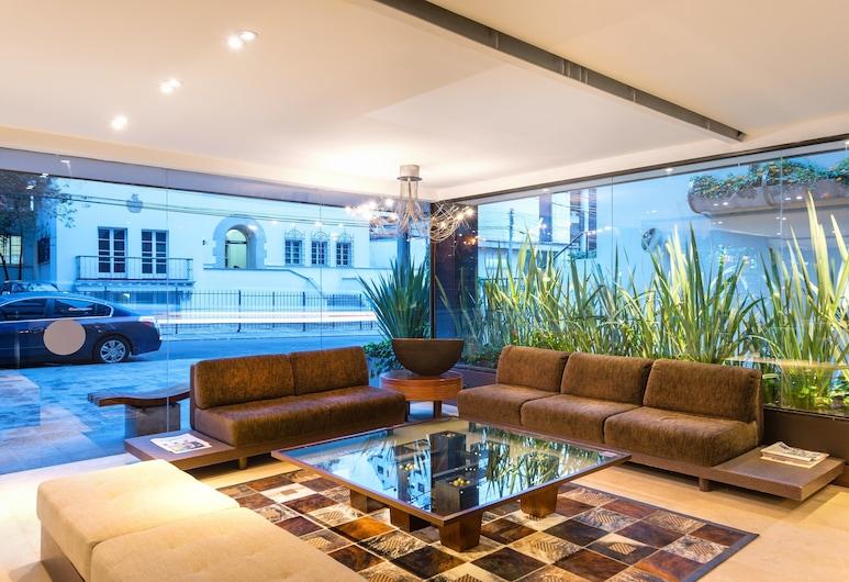 Hotel Lugano Suites, Bogotá, Sala de estar en el lobby