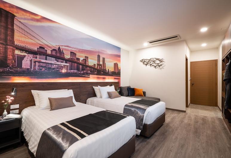 マンハッタン バンコク, バンコク, Superior, 2 Twin Beds, Non Smoking, City View, 部屋