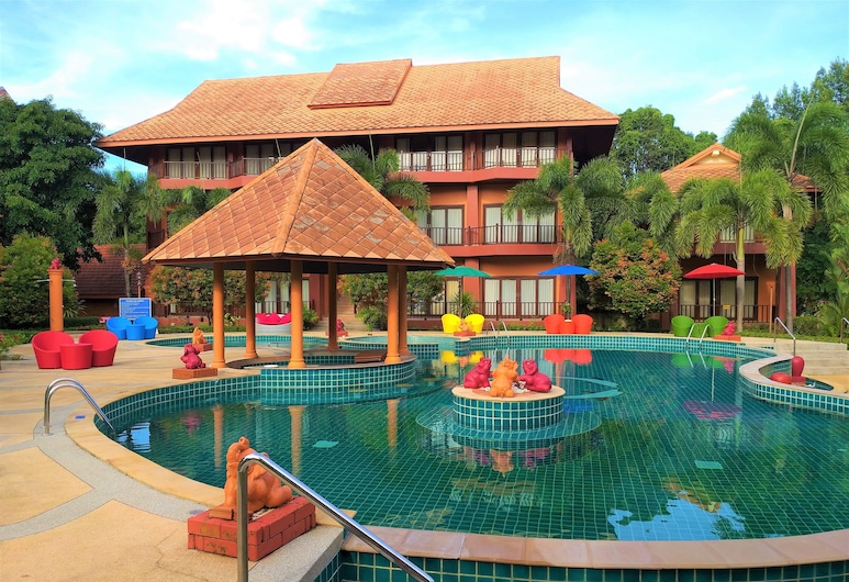 Andamanee Boutique Resort Krabi, Krabi, Deluxe kamer, Balkon, uitzicht op zwembad, Kamer