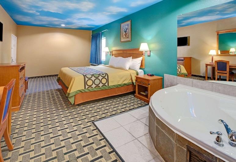 Sapphire Inn and Suites, Dir Parkas, Standartinio tipo kambarys, 1 labai didelė dvigulė lova, Nerūkantiesiems, sūkurinė vonia, Svečių kambarys