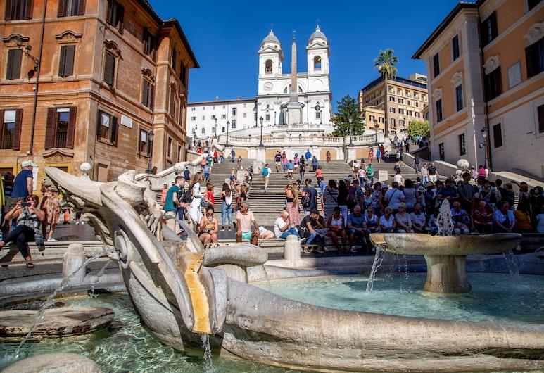 Residenza Canova Tadolini, Rom, Classic-dobbeltværelse, Gadeudsigt