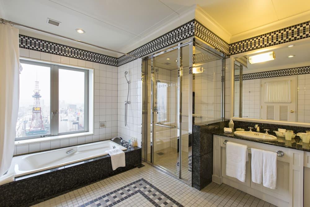 Habitación de lujo (The top floor, 2 beds) - Baño