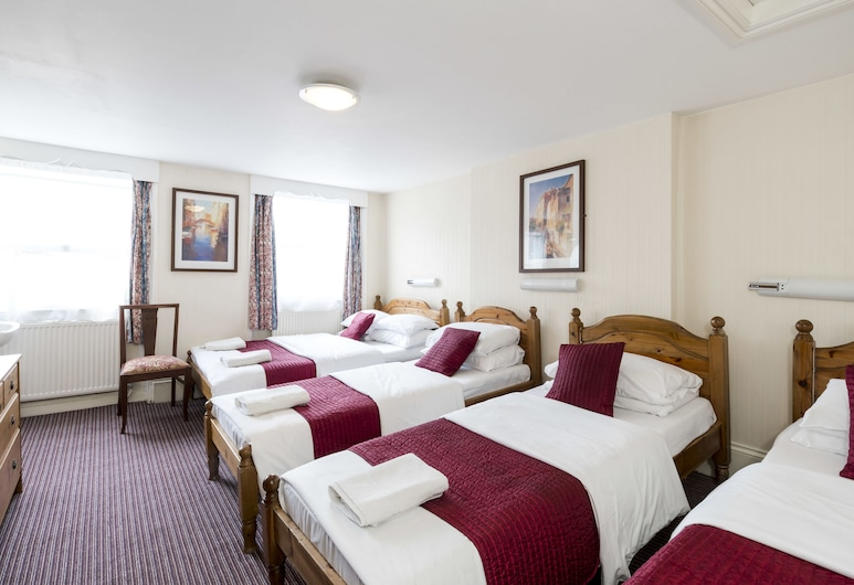 St Athans Hotel, London, Family Room, Multiple Beds, Shared Bathroom, Guest Room