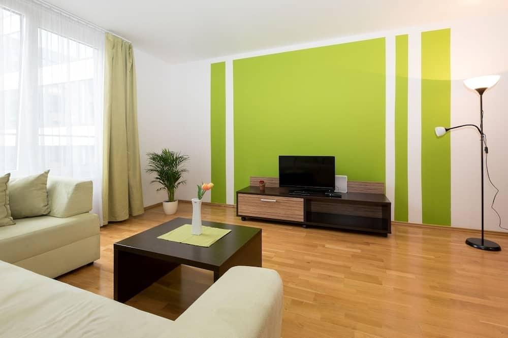 Standard-Apartment, 3Einzelbetten - Wohnzimmer