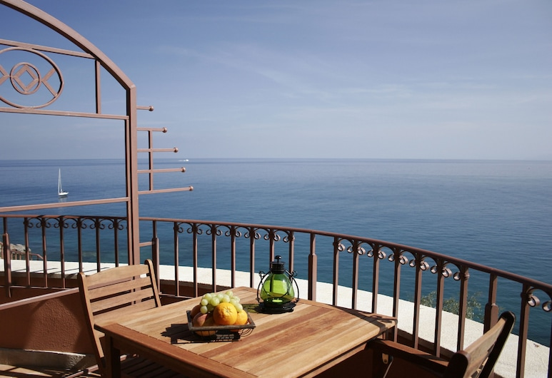 Hotel Kalura, Cefalù, Estudio, 1 cama doble, vistas al mar, Balcón