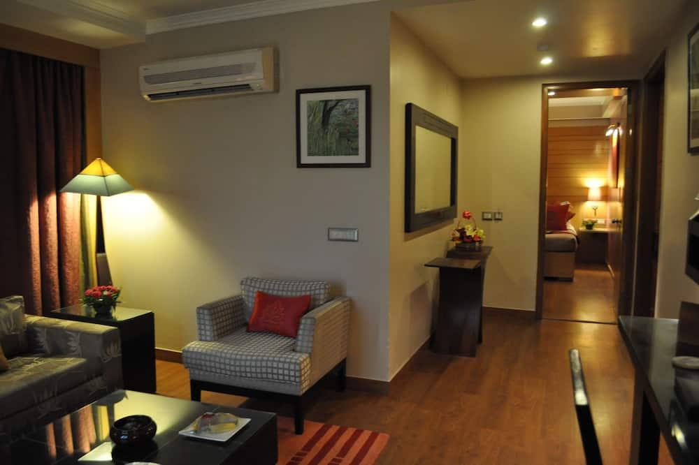 Apartmán, 1 extra veľké dvojlôžko - Obývačka