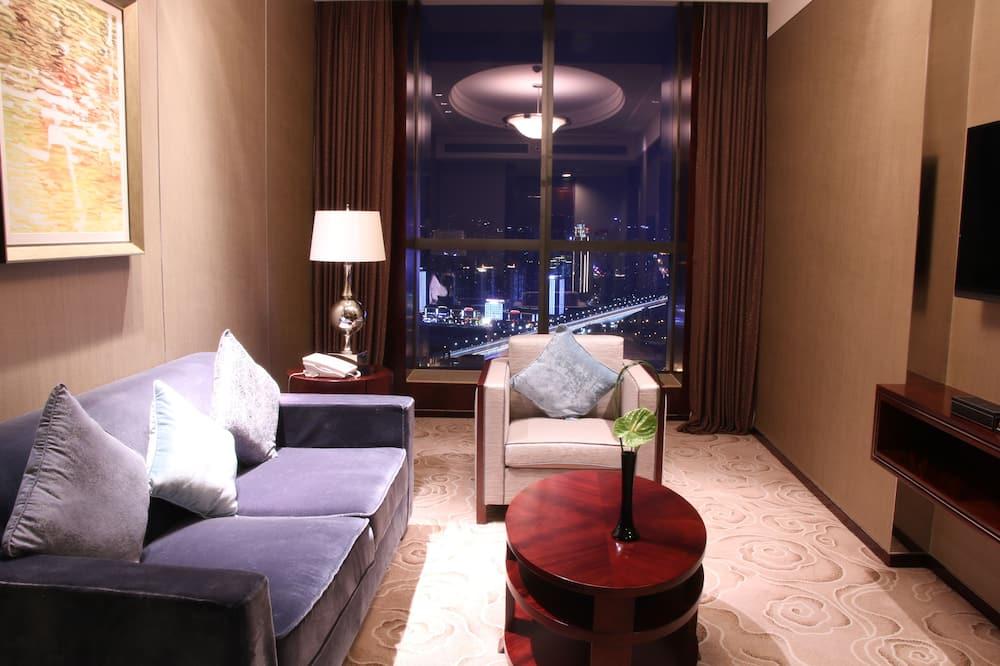 Студія з покращеним обслуговуванням, 1 двоспальне ліжко, для некурців - З видом на місто