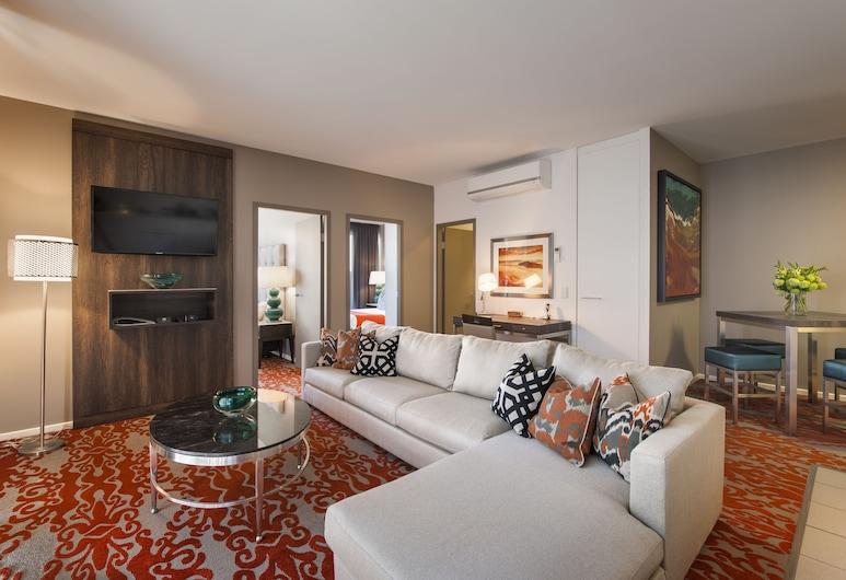 Miller Apartments Adelaide, Adelaida, Departamento ejecutivo, 2 habitaciones, Sala de estar