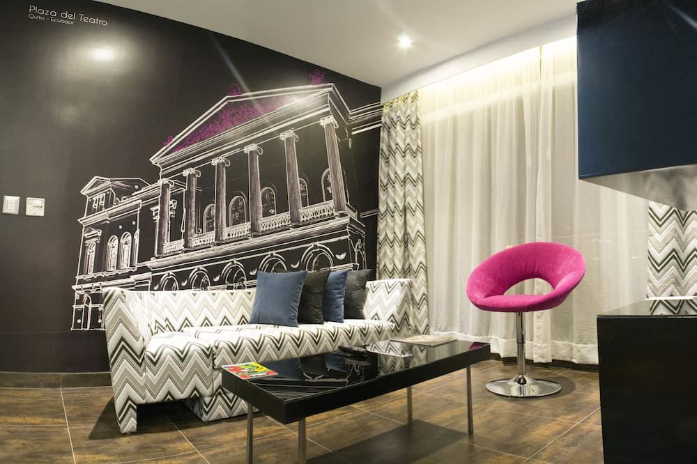 Executive suite, 1 king size krevet, pogled na grad - Dnevni boravak