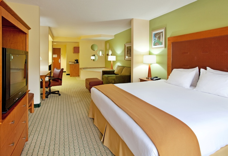 Holiday Inn Express Hotel & Suites Charleston-North, North Charleston, Suite, 1 King Bed, Jetted Tub, Guest Room