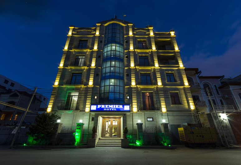 Premier Hotel, Baku, Hotel Front – Evening/Night