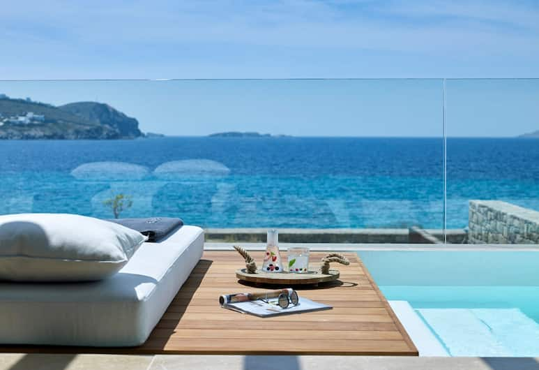 Bill & Coo Suites and Lounge, Mykonos, Honeymoon Coast Suite with Jet plunge pool Annex Building, Utsikt fra gjesterommet