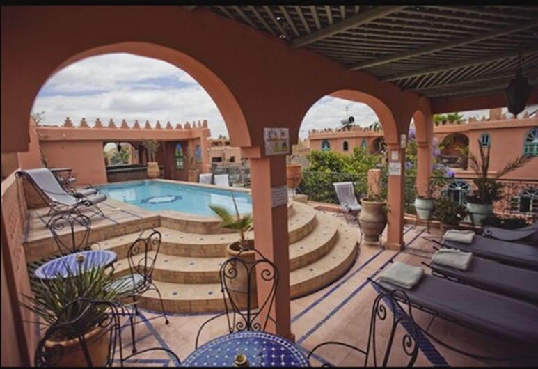 Riad Catalina, Marrakech, Piscina en el piso superior