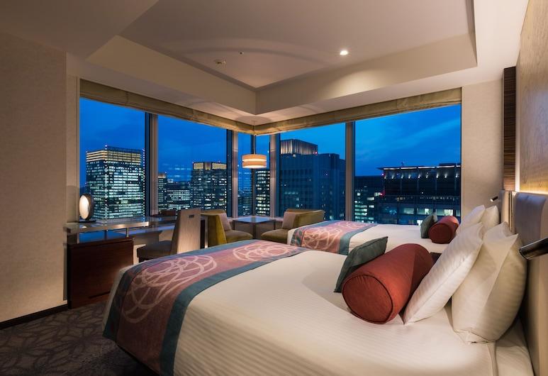 東京丸之內都市大飯店, 東京, 尊尚雙床房, 2 張單人床, 非吸煙房, 轉角 (Twin bed 30sqm), 客房