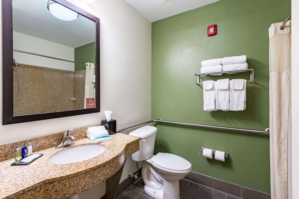 غرفة مريحة - سريران كبيران - تجهيزات لذوي الاحتياجات الخاصة - لغير المدخنين - حمّام