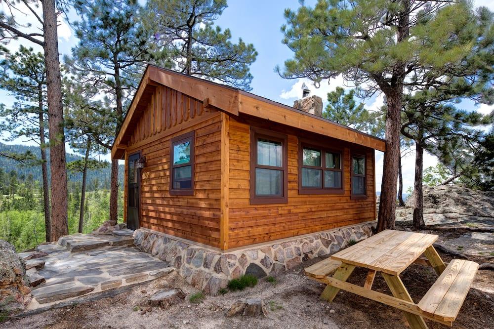 Cabaña Prestigio, 2 camas Queen size, refrigerador y microondas, vista al parque - Habitación
