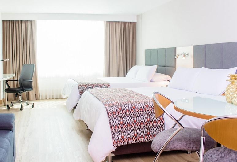 Novelty Suites Hotel, Medellin, Suite, 2 Double Beds, Guest Room