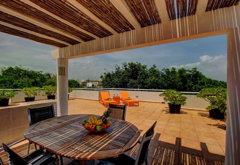 里維艾拉瑪雅套房飯店, 卡曼海灘, 高級頂樓客房, 2 間臥室, 露台