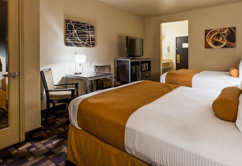 Best Western Windsor Pointe Hotel & Suites-at&t Center, San Antonio, Štandardná izba, 2 veľké dvojlôžka, nefajčiarska izba, chladnička a mikrovlnná rúra, Hosťovská izba