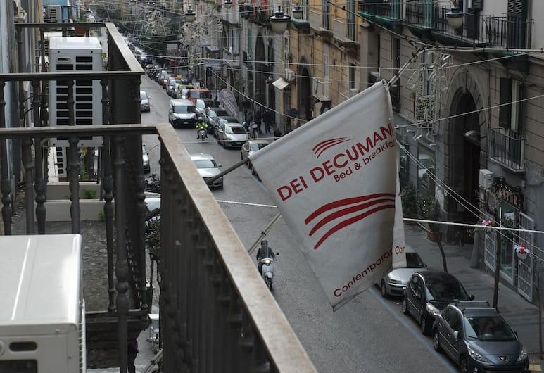Dei Decumani, Napoli, Dobbelt- eller tomannsrom – standard, 1 dobbeltseng eller 2 enkeltsenger, eget bad, gårdsplassområde, Balkongutsikt