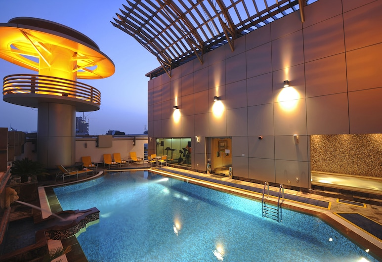 Vision Hotel Apartments Deluxe, Abu Dhabi, Utendørsbasseng