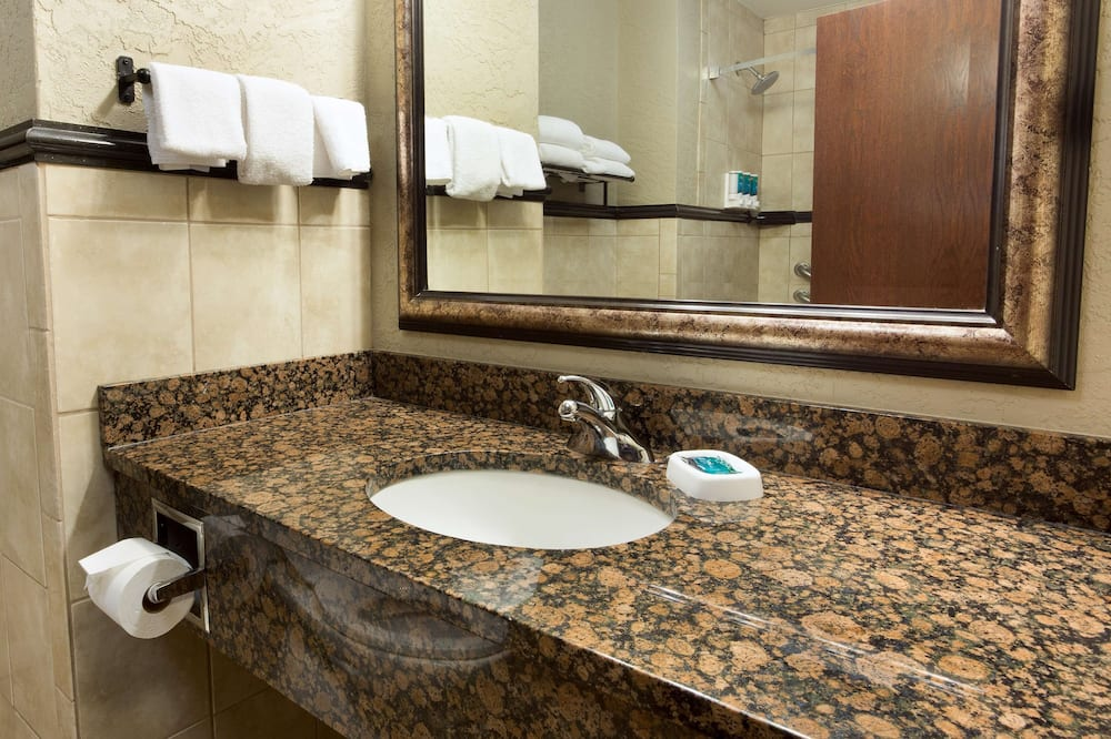 Suite, 1 cama King size con sofá cama, con acceso para silla de ruedas (2 Rooms, Tub, Terrace) - Baño