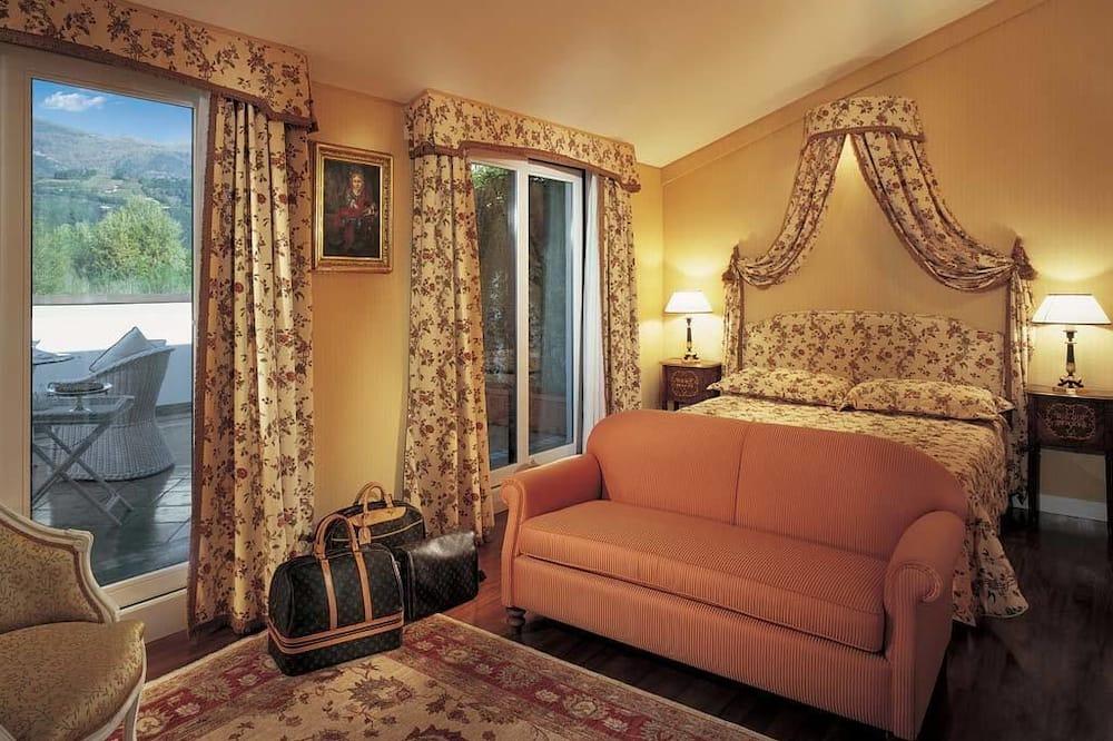 Pokoj Superior s dvojlůžkem, terasa - Obývací prostor