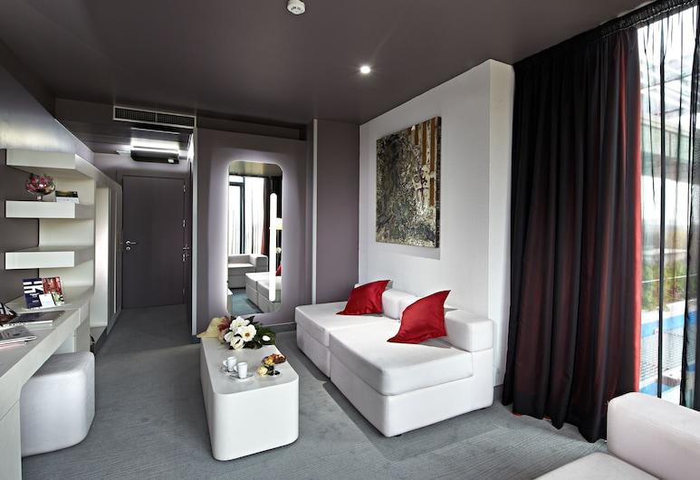 Hotel San Ranieri, Pisa, Executive-suite, Opholdsområde