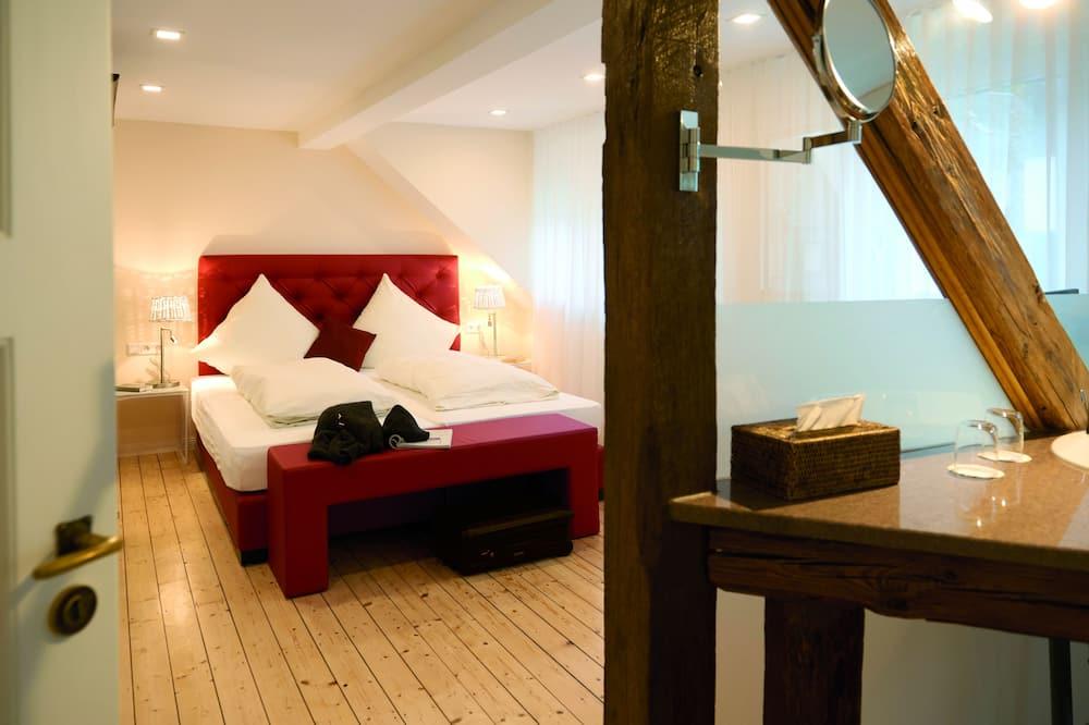 Perhehuoneisto, 1 makuuhuone, Parveke - Vierashuone