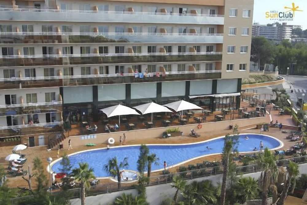 Apart Daire, 1 Yatak Odası, Deniz Manzaralı (3 adults + 2 children) - Açık Yüzme Havuzu