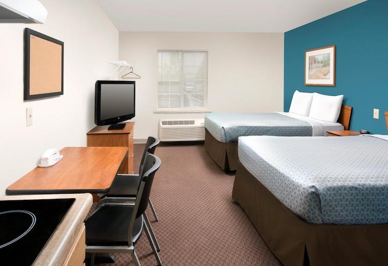 WoodSpring Suites Lakeland, Lakeland, Monolocale Standard, 2 letti matrimoniali, non fumatori, cucina, Camera