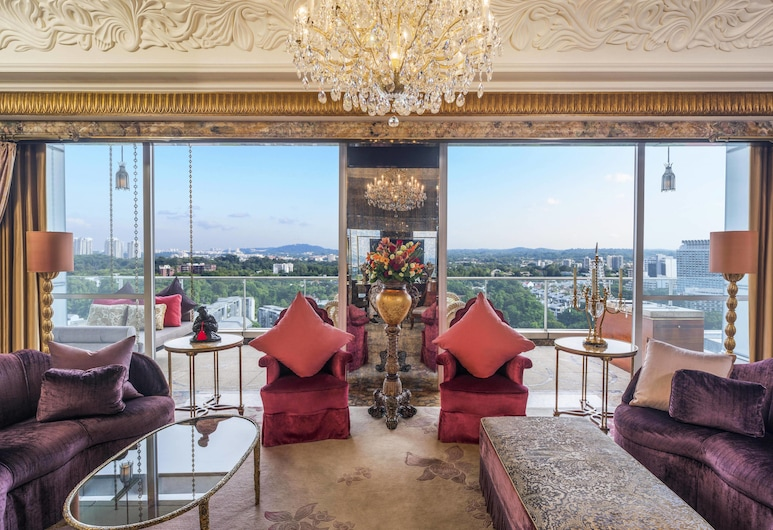 เดอะ เซนต์ รีจิส สิงคโปร์, สิงคโปร์, ห้องเพรสซิเดนเชียลสวีท, 1 ห้องนอน, วิวสวน (1 King, Top Floor), ห้องพัก
