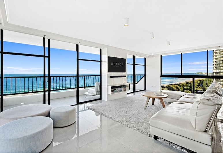 ULTIQA Beach Haven At Broadbeach, Broadbeach, Apartamento Premium, 2 habitaciones, Zona de estar