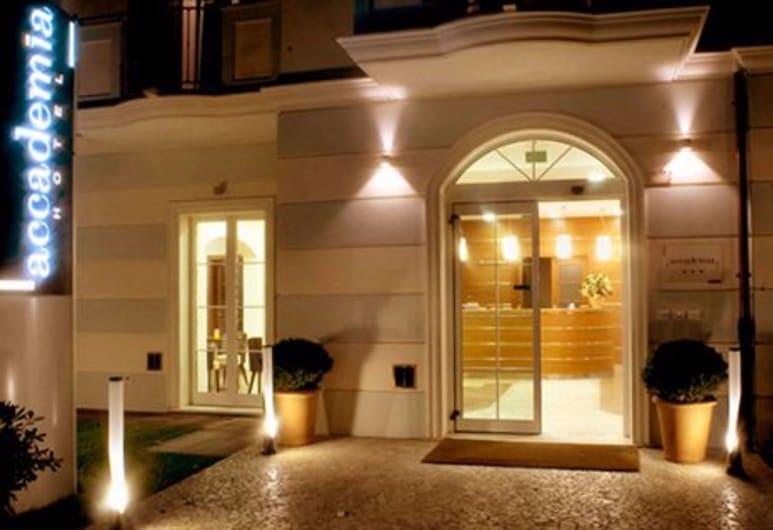 Hotel Accademia, Rimini, Hotel Front – Evening/Night