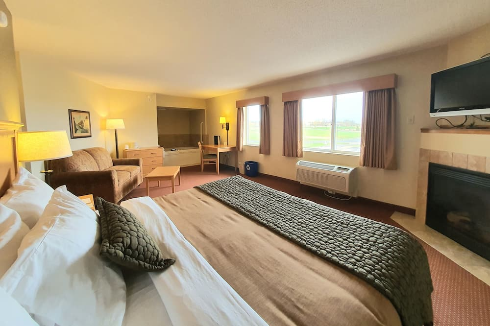 ห้องเพรสซิเดนเชียล, เตียงคิงไซส์ 1 เตียง และโซฟาเบด, ปลอดบุหรี่, อ่างน้ำวน - ห้องพัก