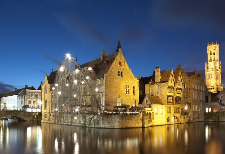 Hotel Bourgoensch Hof, Brüj, Otelin Önü - Akşam/Gece