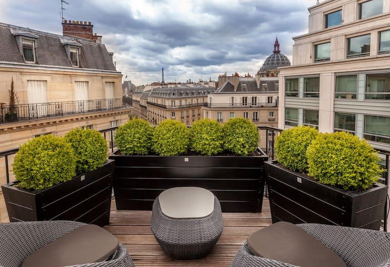 Hotel Wilson Opera, Paris, Deluxe Double Room, Terrace, Terrace/Patio